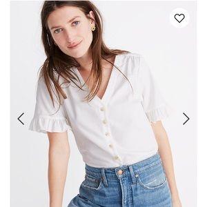 Madewell Village Ruffle-Sleeve Shirt